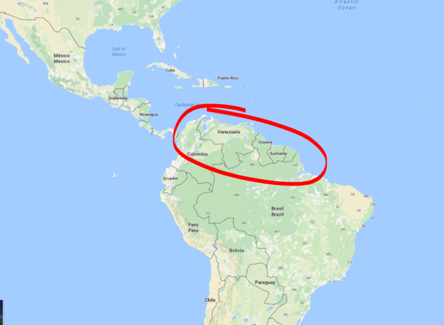 Venezuela on map.PNG